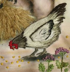 Bird Embroidery, Creative Embroidery, Silk Ribbon Embroidery, Hand Embroidery Patterns, Vintage Embroidery, Embroidery Stitches, Brazilian Embroidery, Thread Painting, Embroidery Techniques