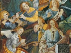 Gaudenzio Ferrari, Angeli musicanti, cupola del Santuario di Santa Maria dei Miracoli, Saronno, 1535-36, dettagli.