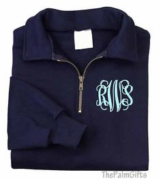 Monogrammed Zip Monogrammed Sweatshirt