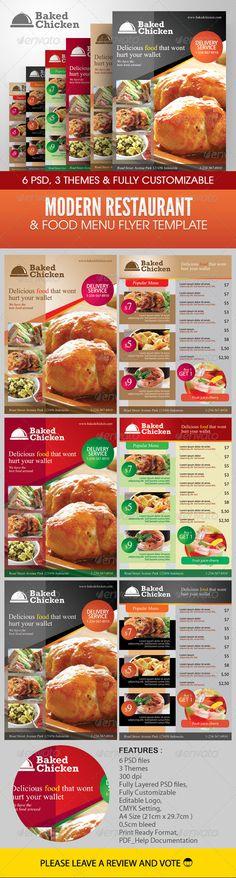 Modern Restaurant Food Menu Flyer Template