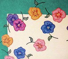 1940s Vintage Applique Pansy Tablecloth & Napkins Uncut Simplicity Transfer #Simplicity #NapkinsTableCloth