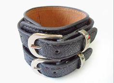 jewelry Bangle bracelet double metal buckle by jewelrybraceletcuff, $9.98
