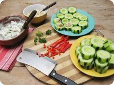 all my faves: Cucumber Appetizers