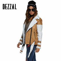 Find More Basic Jackets Information about DEZZAL Vintage suede lambswool short jacket coat winter warm khaki motorcycle female bomber jacket coat with belt streetwear,High Quality bomber jacket coat,China short jacket coat Suppliers, Cheap jacket coat from AZULINA Store on Aliexpress.com