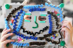 Great collage mask project-great for Mardi Gras, Halloween, or rainy days!
