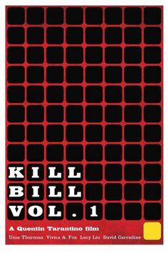 Kill Bill-Inspired Art movi poster, bill poster
