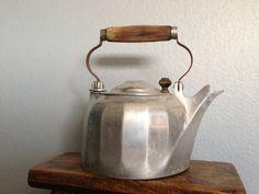 Antique Vintage Cast Aluminum Metal Kettle or Coffee by clopedi