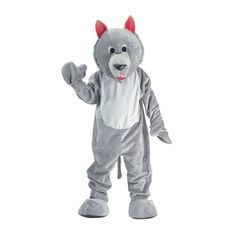 Hungry Wolf Mascot Costume Set - Adult (one size fits most)