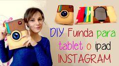 DIY funda protectora para tablet o ipad como el logo de instagram,estuch...