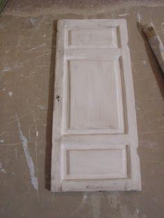 Mini daydreams: Making a shabby panel door / Peilioven tekoa