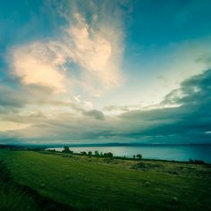 Lake Taupo Landscape with Clouds