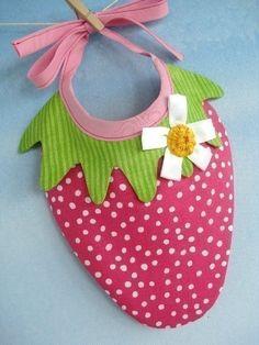 Fresa y sandía Baby babero patrón de costura por preciouspatterns
