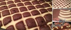 Quilted blanket with chocolate cream and bananas NejRecept. Köstliche Desserts, Delicious Desserts, German Cake, Hungarian Recipes, Chocolate Cream, Cakes And More, Sweet Recipes, Cake Decorating, Food And Drink