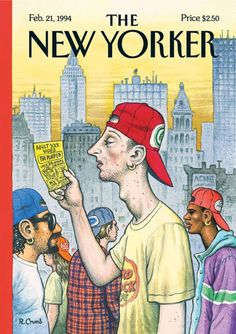 Robert Crumb (1943) historietista e ilustrador y estadounidense. Cómic underground.- Cover for The New Yorker