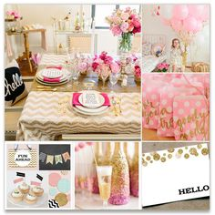 Bet I could make a pink & gold table cloth like that myself. Hmmm.