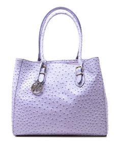Take a look at this Iris Ostrich Nicole Tote by emilie m. on #zulily today!