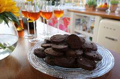 Chocolate Cherry Shortbread Cookies  Recipe by Giada De Laurentiis @gdelaurentiis http://www.giadadelaurentiis.com/recipes/185/chocolate-cherry-shortbread-cookies