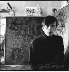 In his attic studio, at Astrid's home, Hamburg, Germany.