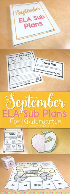 These back to school and fall themed Kindergarten sub plans are perfect for the month of September! Kindergarten students will love these activities and you can rest easy knowing they are busy with meaningful ELA activities while you are away. This set of September ELA sub plans can be used as a full day of sub plans (for full day Kindergarten) OR for several days of your Language Arts block. Themes in the activities and lessons include: back to school, Labor Day, autumn, apples, and more…