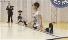 Japanese split race (gif) I don't even know what to think about this<------what did I just see????