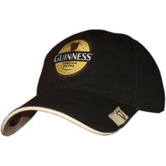 a2b11d9e491 This stylish fitted Guinness cap reflects the colors of the famous beer  with a dark black