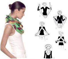How To Tie A Scarf - Hermès Scarf Knotting Cards - Double Wrap