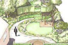The tiffany garden - matthew childs landscape design dra Landscape Plans, Landscape Architecture, Landscape Design, Garden Drawing, Garden Art, Garden Diy On A Budget, Garden Design Plans, Plan Drawing, Landscape Drawings