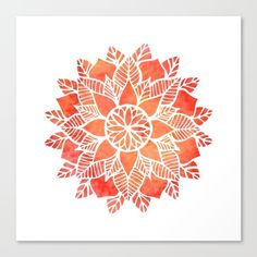 Illustration about Watercolor red mandala. Geometric circled element for design. Lace flower pattern on white background. Illustration of leaf, background, fashion - 56299029 Watercolor Logo, Watercolor Flowers, Mandala Canvas, Canvas Prints, Art Prints, Flower Mandala, Ayurveda, Flower Patterns, Vector Art