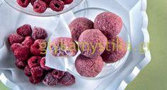 Αφράτες μπουκιές με καρύδα και raspberries!