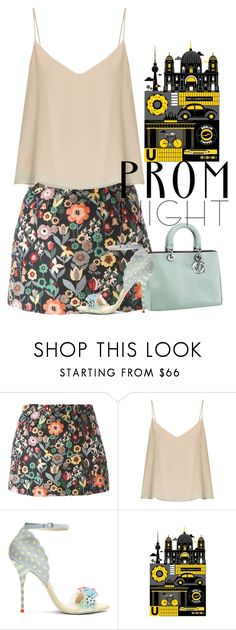"""""""night"""" by hanii-omachiss ❤ liked on Polyvore featuring RED Valentino, Raey, Sophia Webster and Monde Mosaic"""