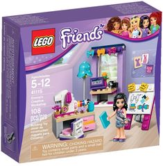 """Looking for great deals on """"LEGO Friends Emma""""? Save money when buying your LEGO play sets for your children and yourself. Lego Shop, Buy Lego, Lego Lego, Lego Ninjago, Sewing Desk, Lego Friends Sets, Creative Workshop, Lego House, Desk With Drawers"""
