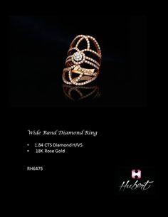 RH6475- Wide Band Diamond Ring
