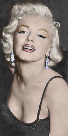 Marilyn Monroe by *Earl Wilson* (marilyn monroe,earl wilson,colorizations,vintage,art,photography,colorful,hot,model,beautiful,woman,blonde)