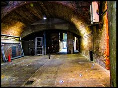 Underground London. This is part of the Thames Pat ... - Underground London. This is part of the Thames Path a path that goes alongside River Thames for a few miles. This particular alleyway is in the City of London north bank of the river close to Canon Street station.