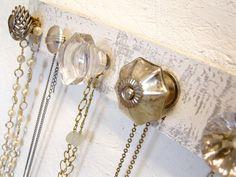 vintage knob jewelry hanger DIY