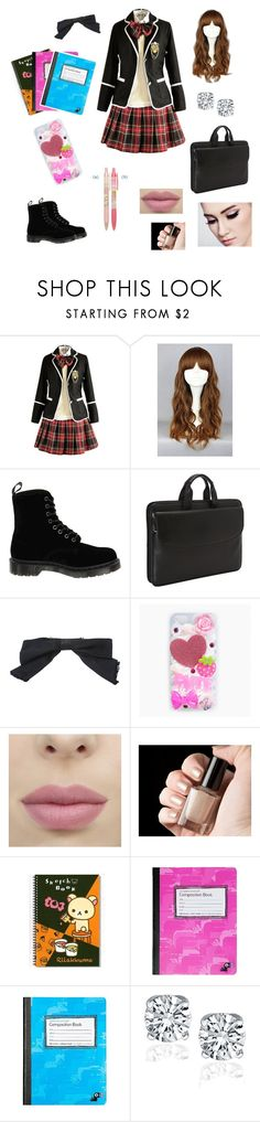 """""""Japanese school uniforms"""" by feralblossom ❤ liked on Polyvore featuring Dr. Martens, Johnston & Murphy, Chanel, cutekawaii and Yoobi"""