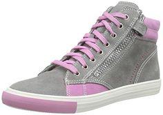 Richter Kinderschuhe Fedora, Mädchen Hohe Sneakers, Grau (rock/candy 6101), 37 EU - http://on-line-kaufen.de/richter-kinderschuhe/37-eu-richter-kinderschuhe-fedora-maedchen-hohe