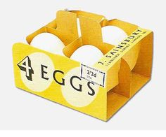 Sainsburys egg carton by Leonard Beaumont, who was design consultant to Sainsbury's from 1950 to 1964.
