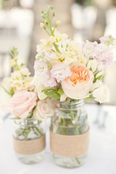 Sweet and romantic centerpieces