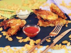 Superkrosse Fischstäbchen, die gemeinsam mit den Kids schnell zubereitet werden können.