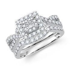 Popular Mybridalring pany provides Stylish Handcrafted and fort fit design of Princess Cut Diamond Bridal Set