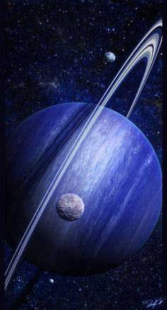 Saturn... in blue