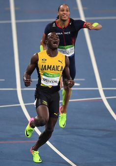 Jamaica s Omar McLeod celebrates after he won the Men s Hurdles Final…  LauraClaire sagman · rio 2016 e3ff9ebff
