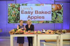Get Olivia Newton-John's recipe for Easy Baked Apples on our site! Click thru!