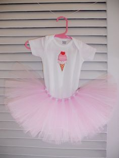 Yelley's Bellies ice cream cone tutu outfit.  www.facebook.com/YelleysBellies  www.YelleysBellies.com