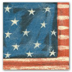 Stars and Stripes Luncheon Napkins