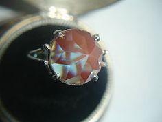 Large, rose-cut saphiret ring
