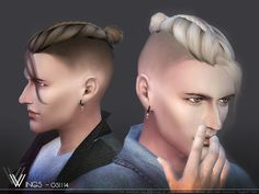 Hair OS1114 by wingssims at TSR • Sims 4 Updates