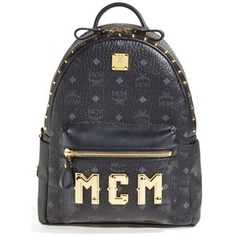 Women's MCM 'Small - Visetos' Studded Backpack