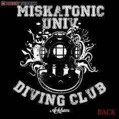 Miskatonic University Purchasing Department Miskatonic University Diving Club Jersey Black x White M (Anime Toy) Item picture3